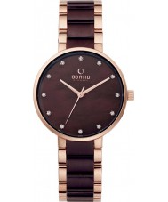 Obaku V189LXVNSA Ladies Two Tone Steel Bracelet Watch