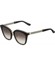 Jimmy Choo Ladies Fabry-S KBE JS Havana Glittery Sunglasses