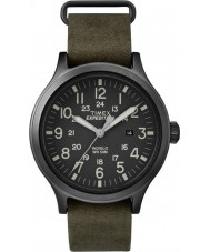 Timex TW4B06700 Mens Scout Green Leather Strap Watch