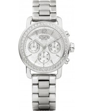Coach 14501882 Ladies Legacy Sport Small Silver Chronograph Watch