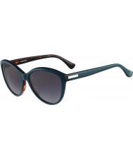 Calvin Klein Platinum Ladies CK4256S Havana Petrol Sunglasses