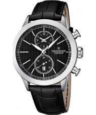 Candino C4505-4 Mens Chronograph Black Leather Strap Watch
