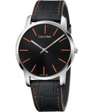 Calvin Klein K2G211C1 Mens City Black Leather Strap Watch