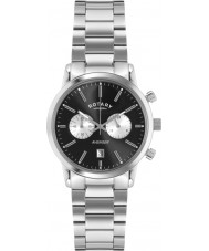 Rotary GB02730-04 Mens Timepieces Sports Avenger Black Silver Chronograph Watch