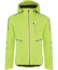 Dare2b DMW115-1FR90-XXL Mens Reverence Neon Green Waterproof Shell Jacket - Size XXL