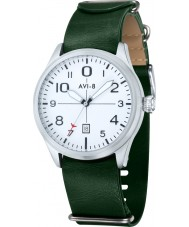 AVI-8 AV-4029-04 Mens Flyboy Box Set Two Tone Leatherette Strap Watch