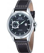 AVI-8 AV-4016-03 Mens Hawker Hurricane Black Leather Strap Watch