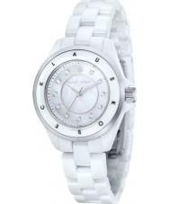 Klaus Kobec KK-10004-01 Ladies Luna Steel and White Ceramic Watch