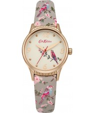Cath Kidston CKL013ERG Ladies British Birds Grey PU Leather Strap Watch