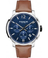 Coach 14602015 Mens Bleeker Brown Leather Chronograph Watch