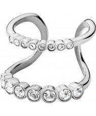 Dyrberg Kern 336974 Ladies Emelia III Silver Steel Cocktail Ring