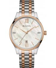 Bulova 98S150 Ladies Diamond Two Tone Steel Bracelet Watch
