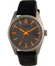 Kahuna KUS-0122G Mens Black PU Strap Watch