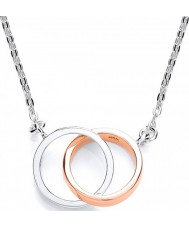 Purity 925 PUR3576N Ladies Two Loops Sterling Silver Necklace