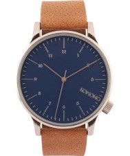 Komono KOM-W2000 Mens Winston Blue Cognac Watch