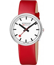 Mondaine A763-30362-11SBC Mini Giant Red Leather Strap Watch