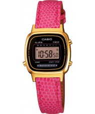 Casio LA670WEGL-4AEF Ladies Collection Pink Leather Strap Watch