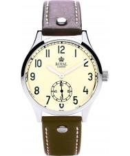 Royal London 41109-01 Mens Vintage Beige and Brown Watch
