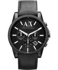 Armani Exchange AX2098 Mens Black Leather Strap Chronograph Dress Watch