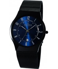 Skagen T233XLTMN Mens Aktiv Blue and Black Titanium Watch