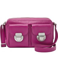 Fossil ZB6451690 Ladies Riley Fuchsia Top Zip Cross Body Bag