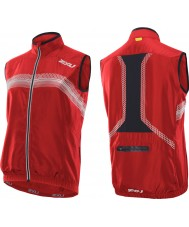 2XU MC2486A-NRD-BLK-S Mens Neon Red and Black Microclimate Reflector Vest - Size S