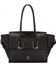 Fiorelli FH8501-BLACK Ladies Hudson Black Casual Zip Tote Bag