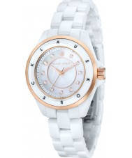 Klaus Kobec KK-10004-02 Ladies Luna Rose Gold and White Ceramic Watch