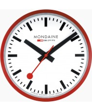 Mondaine A990-CLOCK-11SBC Red Metal Wall Clock