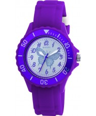 Tikkers TK0035 Kids Purple Rubber Watch