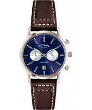 Rotary GS02730-05 Mens Timepieces Sports Avenger Blue Brown Chronograph Watch