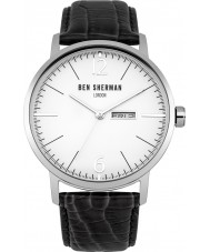 Ben Sherman WB046B Mens Big Portobello Professional Black Leather Strap Watch