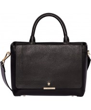 Modalu MH5117-BLACK Ladies Bess Black Leather Zip Mini Tote Bag