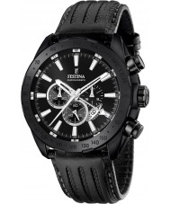 Festina F16901-1 Mens Prestige Black Leather Chronograph Watch