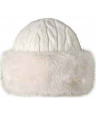 Barts 1630010 Ladies Fur Cable White Band Hat