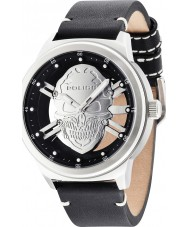 Police 14685JS-04 Mens Predator Black Leather Strap Watch