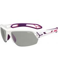 Cebe S-Track Medium White Purple Variochrom Perfo Sunglasses