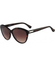 Calvin Klein Platinum Ladies CK4256S Havana Sunglasses
