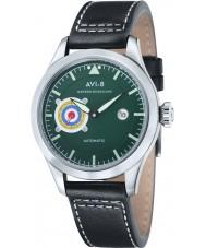 AVI-8 AV-4016-04 Mens Hawker Hurricane Black Leather Strap Watch