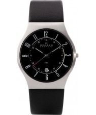 Skagen 233XXLSLB Mens Klassik Black Leather Strap Watch