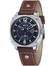 AVI-8 AV-4039-01 Mens Hawker Hunter Brown Leather Strap Watch