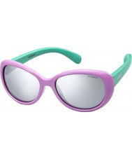 Polaroid Kids PLD8004-S T5F JB Lilac Polarized Sunglasses