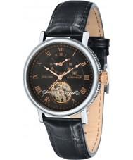 Thomas Earnshaw ES-8047-01 Mens Beaufort Black Crock Leather Strap Watch