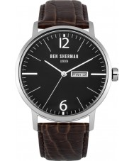 Ben Sherman WB046BR Mens Big Portobello Professional Brown Leather Strap Watch