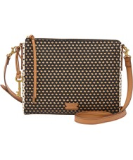 Fossil ZB6901016 Ladies Emma EW Black Multi Cross Body Bag