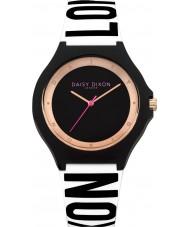 Daisy Dixon DD040B Ladies Daisy Black and White Silicone Strap Watch