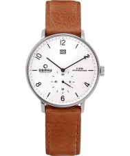 Obaku V190GDCWRZ Mens Light Brown Calf Leather Strap Watch