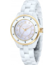 Klaus Kobec KK-10004-03 Ladies Luna Gold and White Ceramic Watch