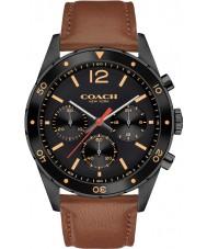 Coach 14602070 Mens Sullivan Sport Brown Leather Strap Watch