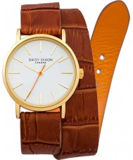 Daisy Dixon DD005TG Ladies Karlie Double Wrap Tan Leather Strap Watch